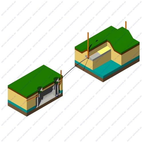 Автономная канализация с септиком и полем фильтрации для высоких грунтовых вод