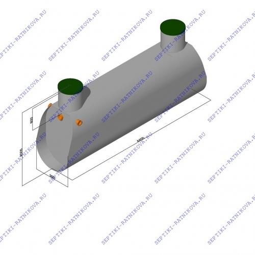 Септик ЛАД 3.6 Н размеры