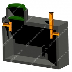 Схема и устройство бетонного септика ЛАД-МОНОЛИТ