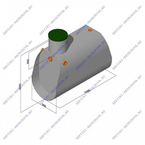 Септик ЛАД размеры