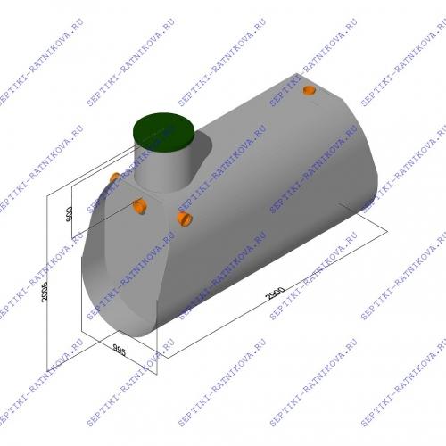 Септик ЛАД 2.4 размеры