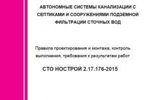 СТО НОСТРОЙ 2.17.176-2015